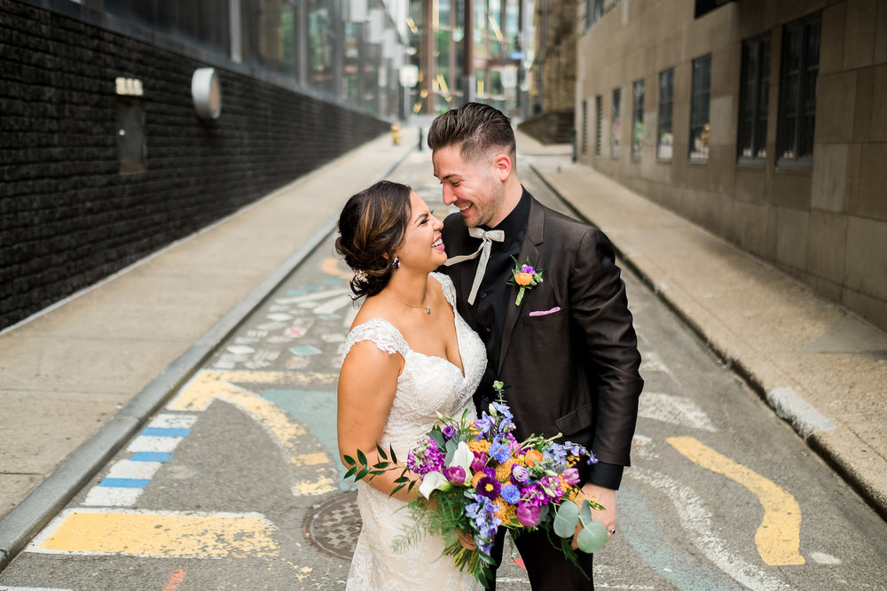 Bride and groom's pittsburgh wedding