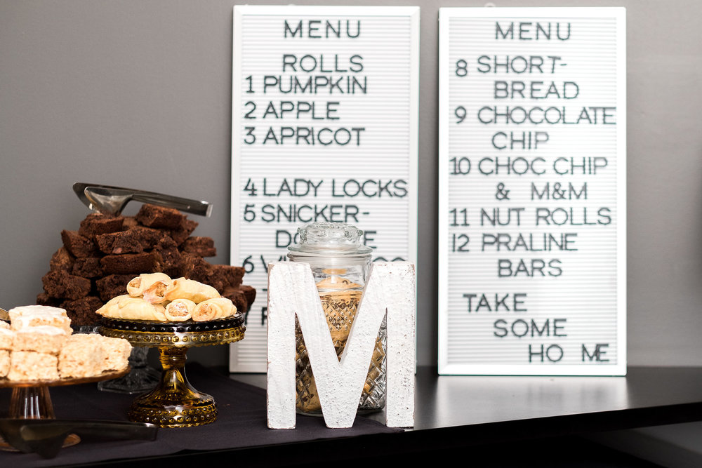 Pittsburgh cookie table wedding sign