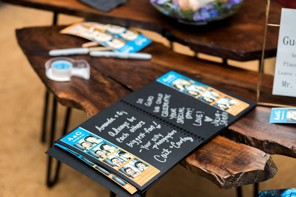 Creative photo book for a wedding guest book