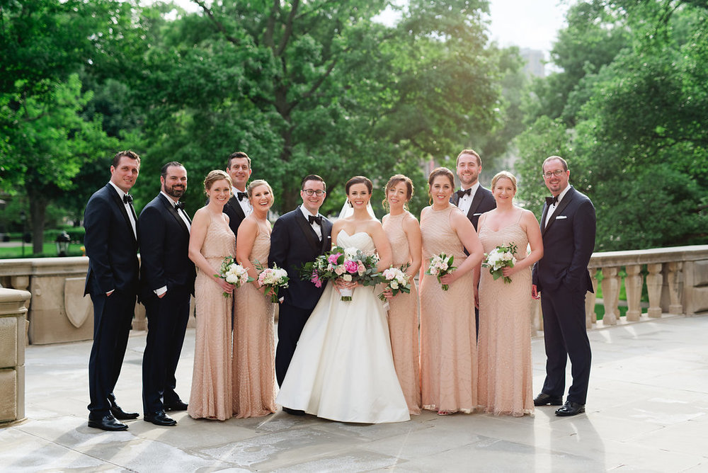 Bridal party pictures at Pittsburgh wedding