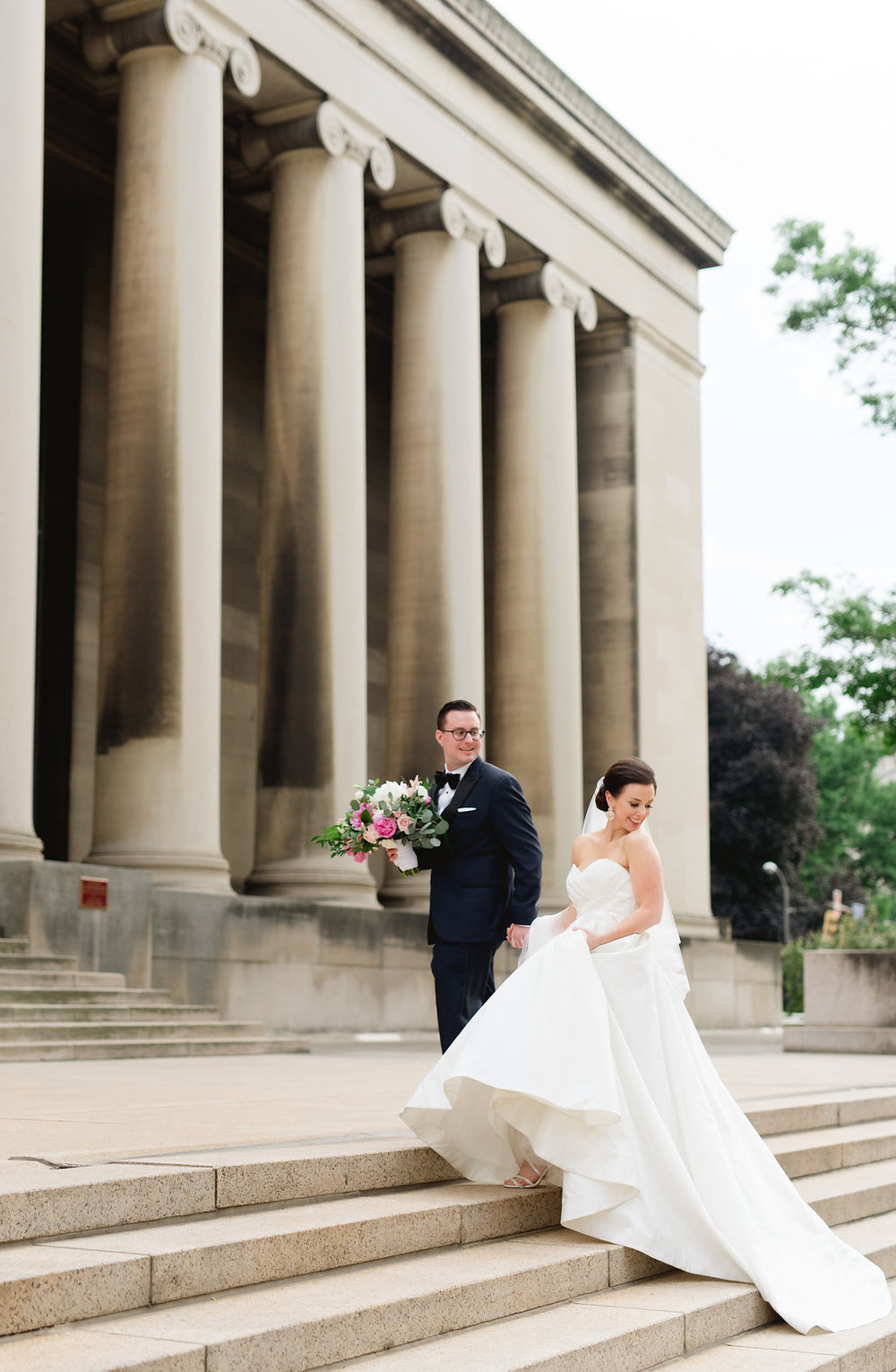 Bride and groom wedding photography Pittsburgh wedding