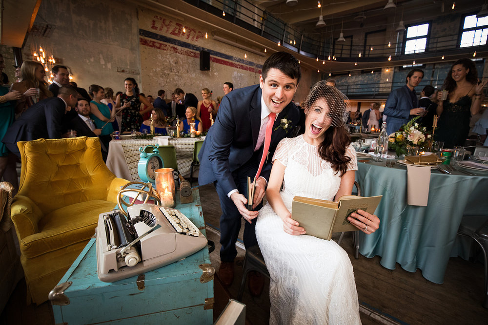 School-themed, vintage glam wedding at Ace Hotel in Pittsburgh.