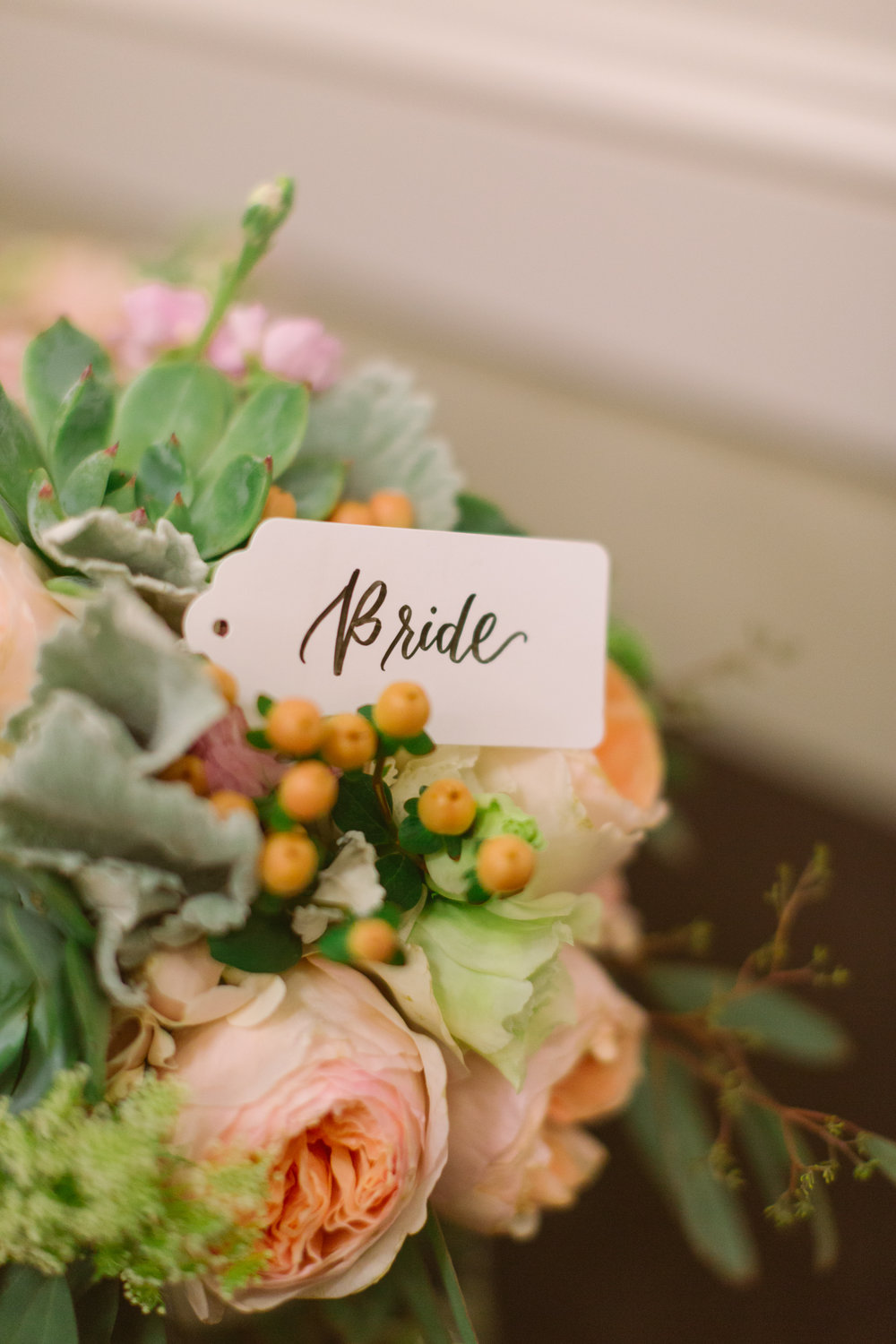 Bridal wedding bouquet for San Diego, California outdoor wedding planned by Exhale Events. See all the beautiful details at exhale-events.com!