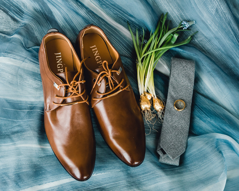 Groom's wedding shoes and accessories for Pablo Neruda enchanting garden styled shoot planned by Exhale Events. Get inspired at exhale-events.com!
