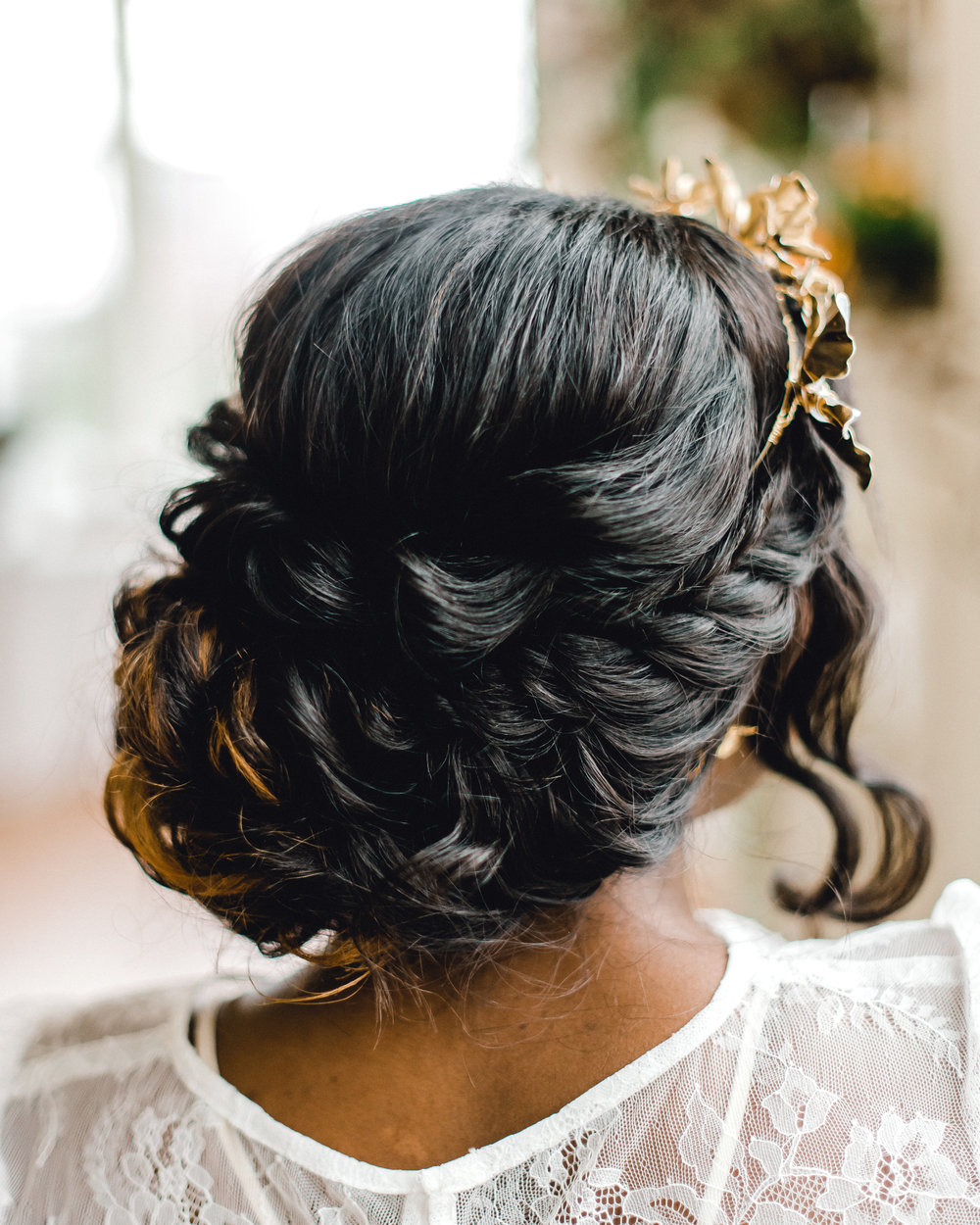 Wedding hair updo for Pablo Neruda enchanting garden styled shoot planned by Exhale Events. Get inspired at exhale-events.com!