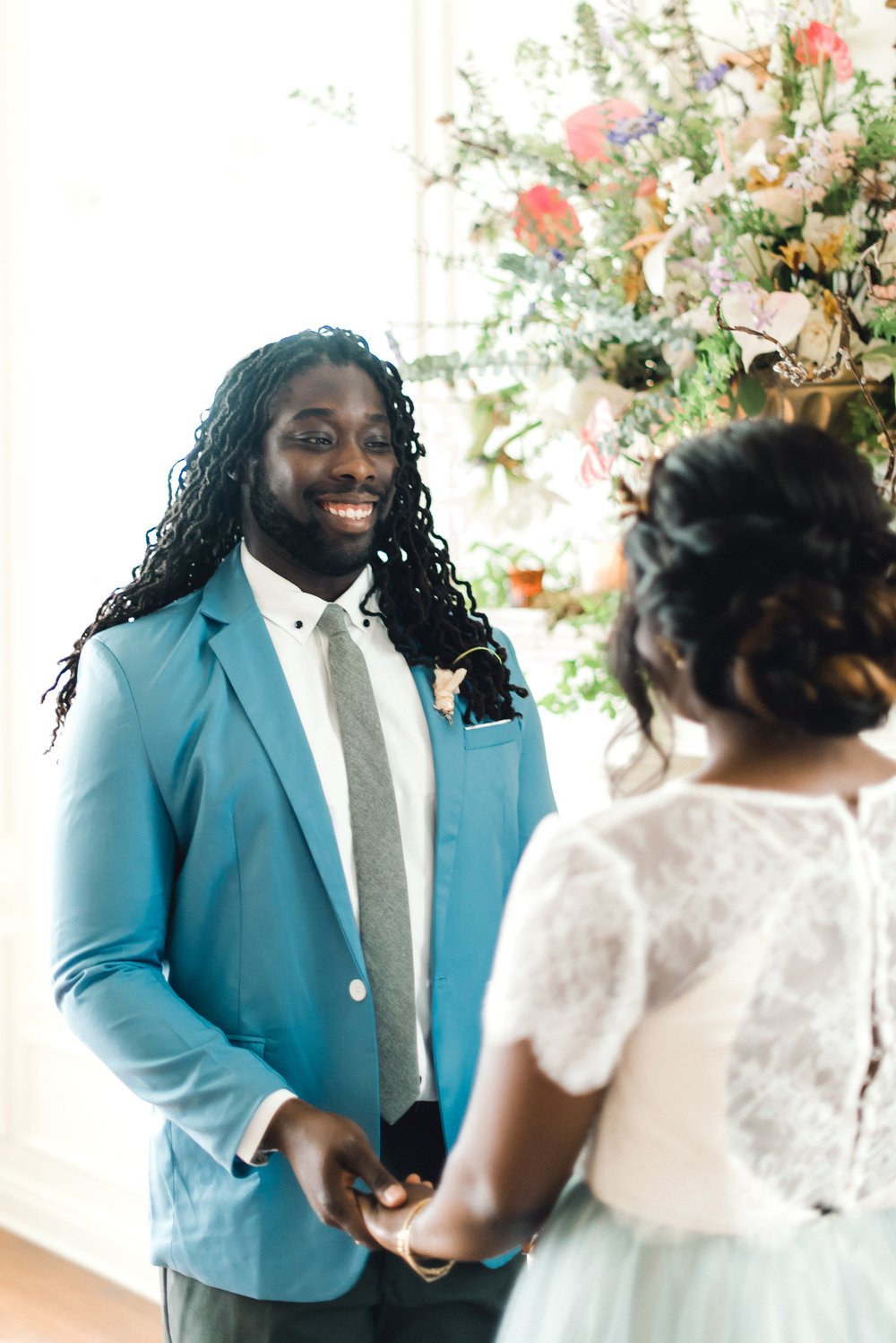 Groom's style for Pablo Neruda enchanting garden styled shoot planned by Exhale Events. Get inspired at exhale-events.com!