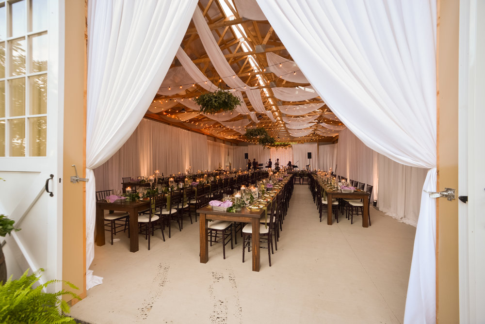 Family barn transformed into beautiful Mediterranean wedding venue for Pittsburgh wedding planned by Exhale Events. Find more inspiration at exhale-events.com!