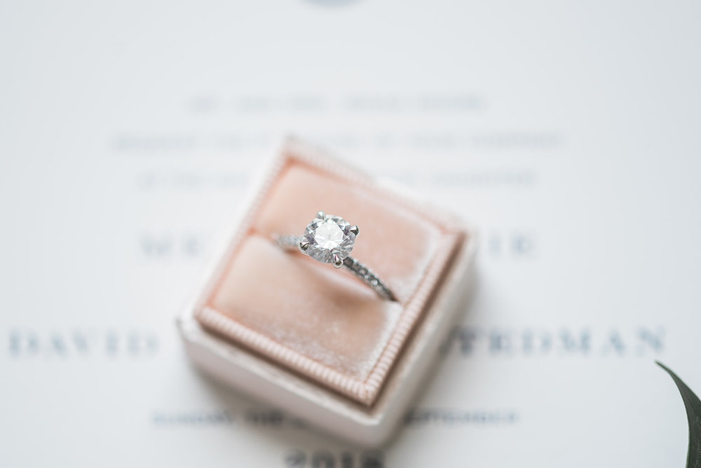 Engagement ring in Mrs. box for Pittsburgh wedding at PNC Park planned by Exhale Events. Find more wedding inspiration at exhale-events.com!