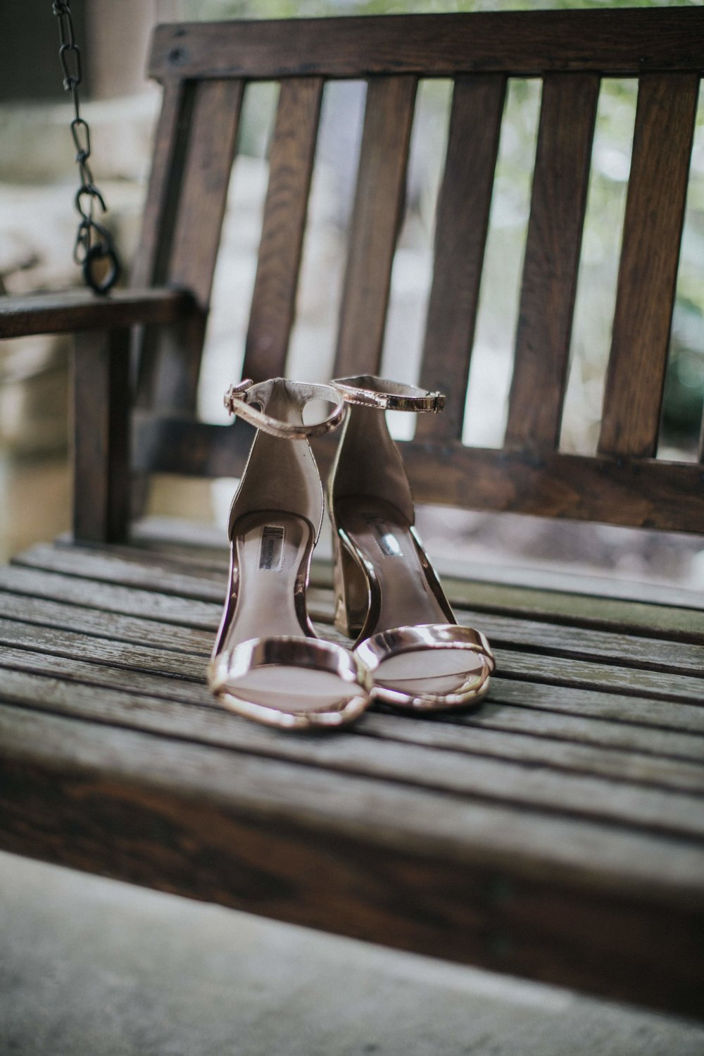 Bride's wedding shoes for rustic wedding in Farmington, PA planned by Exhale Events. Find more wedding inspiration at exhale-events.com!