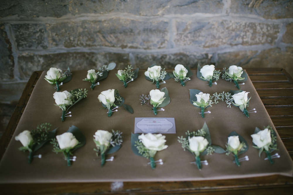 Boutonnieres for rustic wedding in Pittsburgh, PA planned by Exhale Events. Find more wedding inspiration at exhale-events.com!
