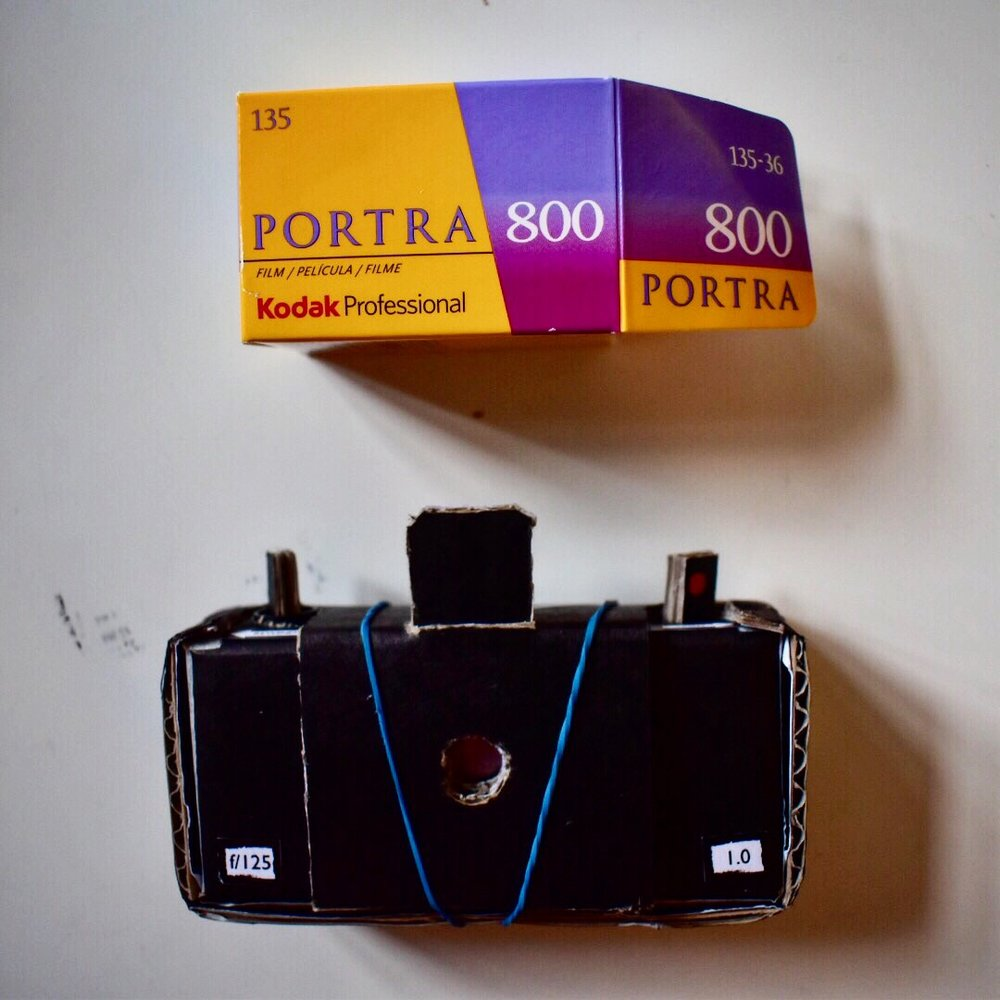 My handmade pinhole camera