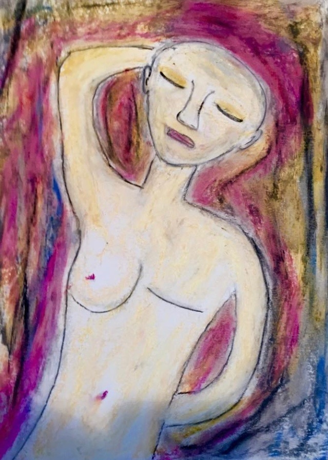 Janet Balckwell's Self Portrait after her mastectomy.