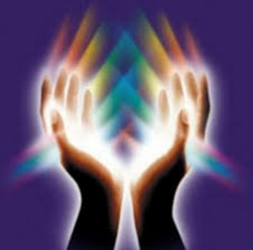 """This is certified massage therapist, Patrice Wasserman's, logo from """"Enlightened Touch."""""""
