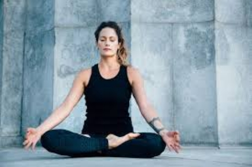 Performing yoga through closed eyes helps to focus inward during your practice.