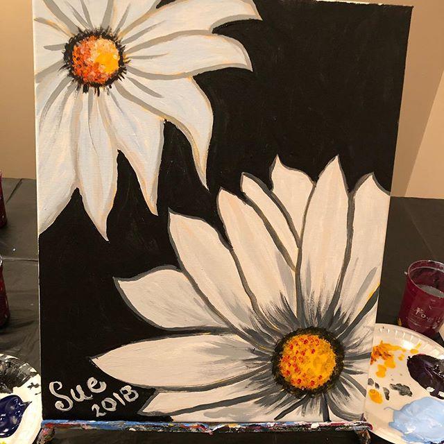 """My """"Daisy Duo"""" painting."""