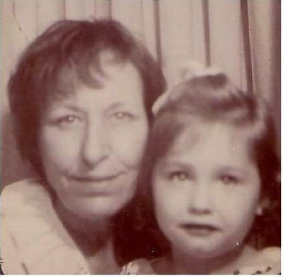Me and my adoptive mother, Virginia. I was five years old.