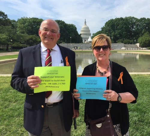 My husband, Bob and I, make it our mission to attend the annual Infertility Advocacy Day in Washington DC.