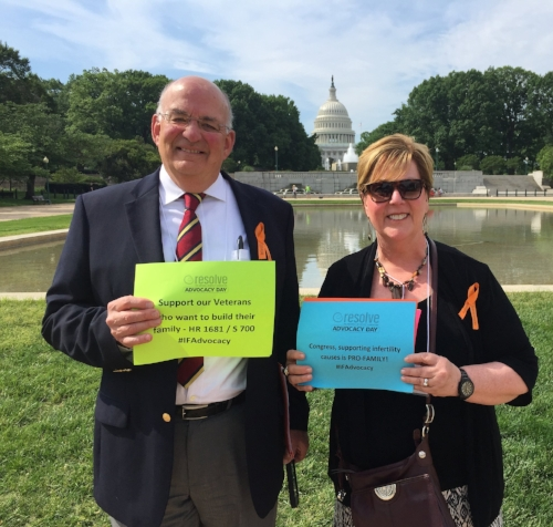 My husband Bob and I at Infertility Advocacy Day in Washington D. C.