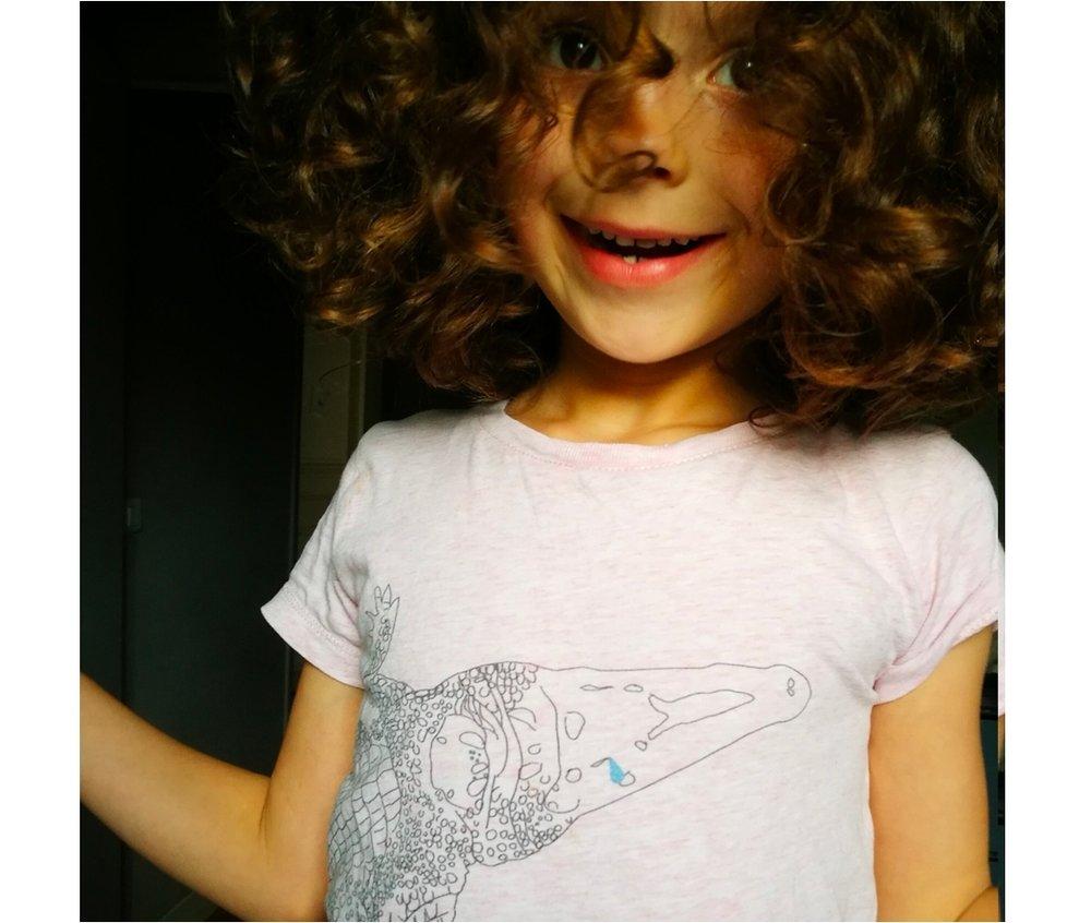 Sarah - Tshirt  Crocodile Enfant
