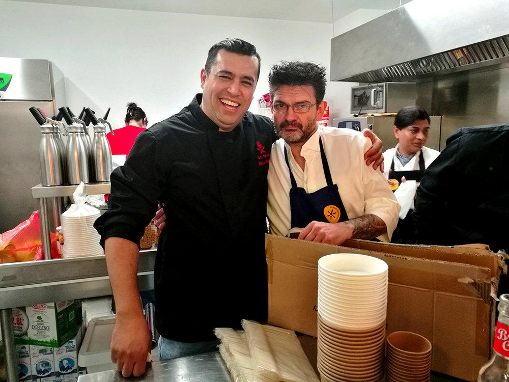 Mohammad El Khaldy et Stéphane-Jégo, La Résidence Restaurant at Ground Control, Paris 12 ©photo : Constance Lacorne