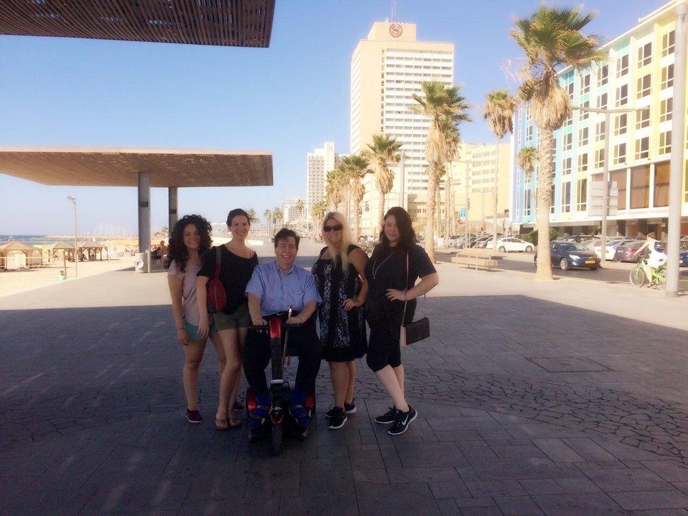 Elizabeth, Laura, Dad, Melissa, Rachel Tel Aviv September 2016