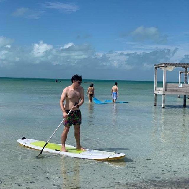 I discovered I like paddle boarding yesterday. 🏄 . . . #exploreshreddiscover #belizevacation #mahoganybeach