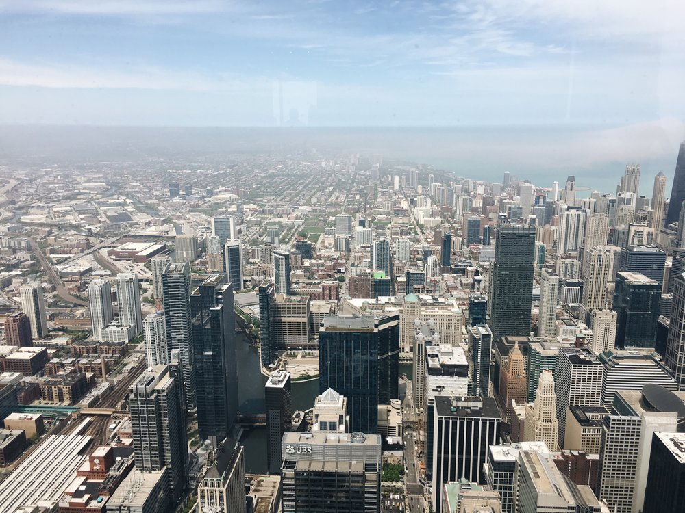 Willis Tower Skydeck view