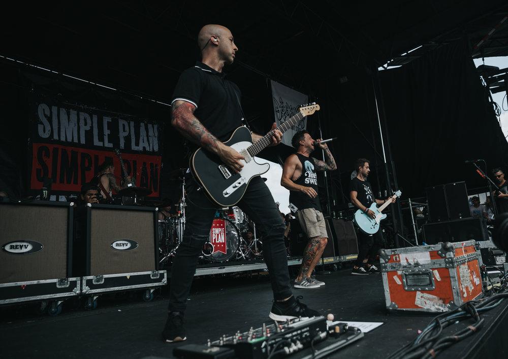 SIMPLE PLAN PERFORMING AT VAN'S WARPED TOUR IN SAN ANTONIO, TX ON JULY 07, 2018.
