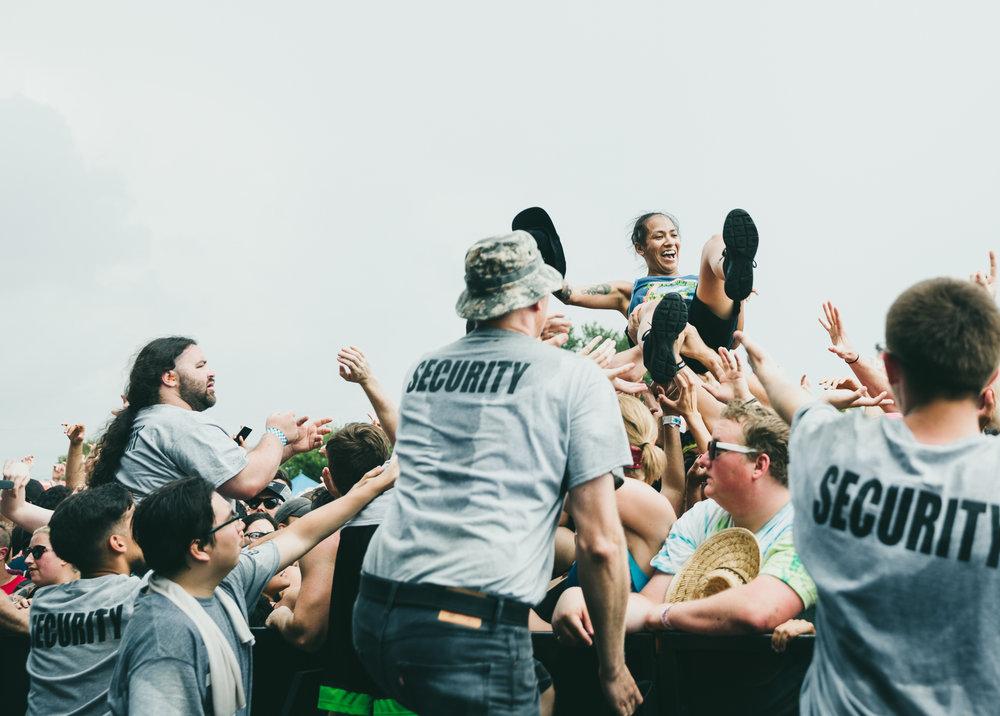 FOUR YEAR STRONG PERFORMING AT VAN'S WARPED TOUR IN SAN ANTONIO, TX ON JULY 07, 2018.