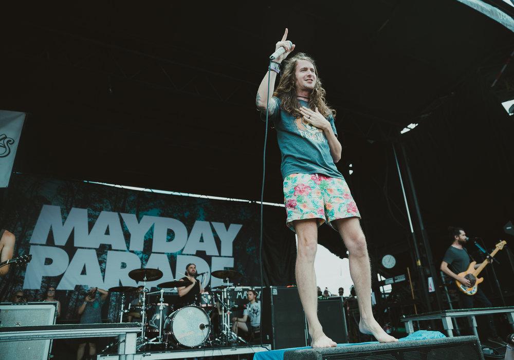 MAYDAY PARADE PERFORMING AT VAN'S WARPED TOUR IN SAN ANTONIO, TX ON JULY 07, 2018.