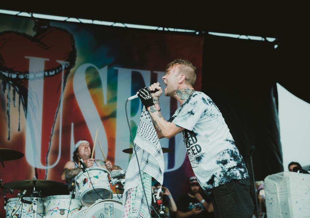 THE USED PERFORMING AT VAN'S WARPED TOUR IN SAN ANTONIO, TX ON JULY 07, 2018.