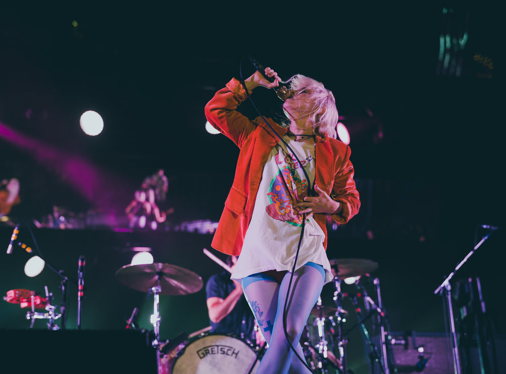 PARAMORE PERFORMING AT CONCRETE STREET AMPHITHEATER IN CORPUS CHRISTI, TX ON JULY 11, 2018.