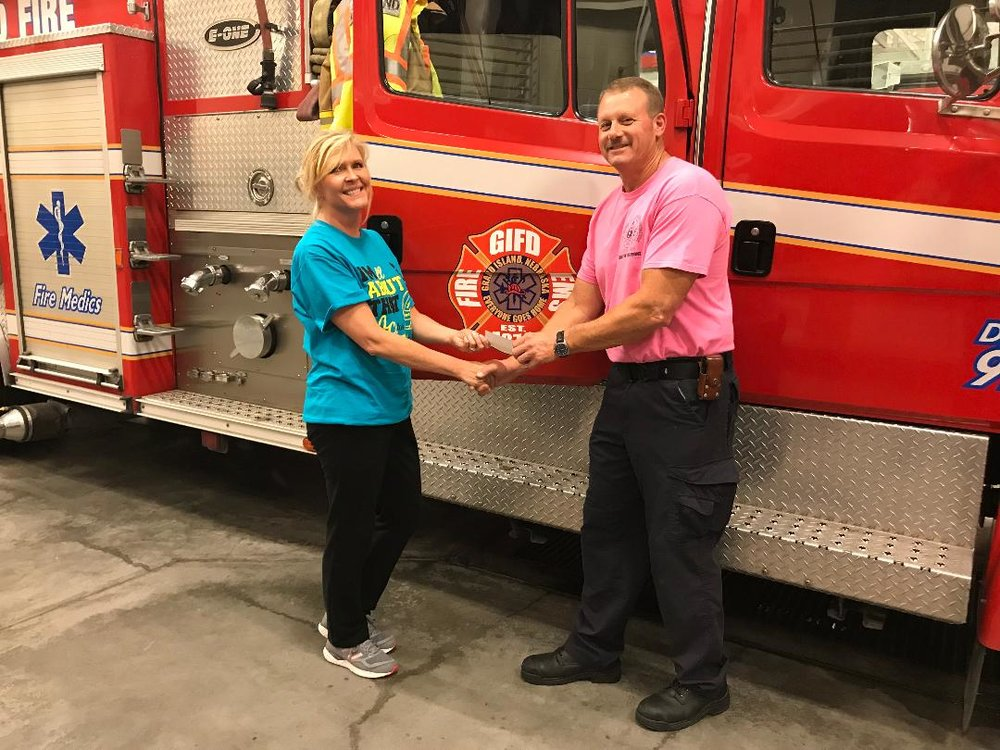 Thank you, Grand Island Firefighters! - The Grand Island Fire Department sold GRACE t-shirts and raised $2,500!