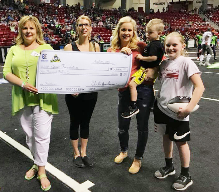 Thank you, Pump & Pantry and Danger Football! - $5,000 in 2018 contributed from paper butterflies sold in Pump & Pantry stores plus a ticket fundraiser through Danger Football, rounded up by the Bosselman Family!