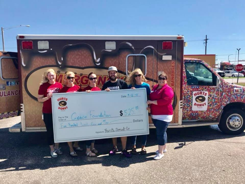 Thank You, Hurts Donut! - Hurts Donut of Lincoln helped GRACE raised $525 in a 40-minute donut sellout September 12, 2018!