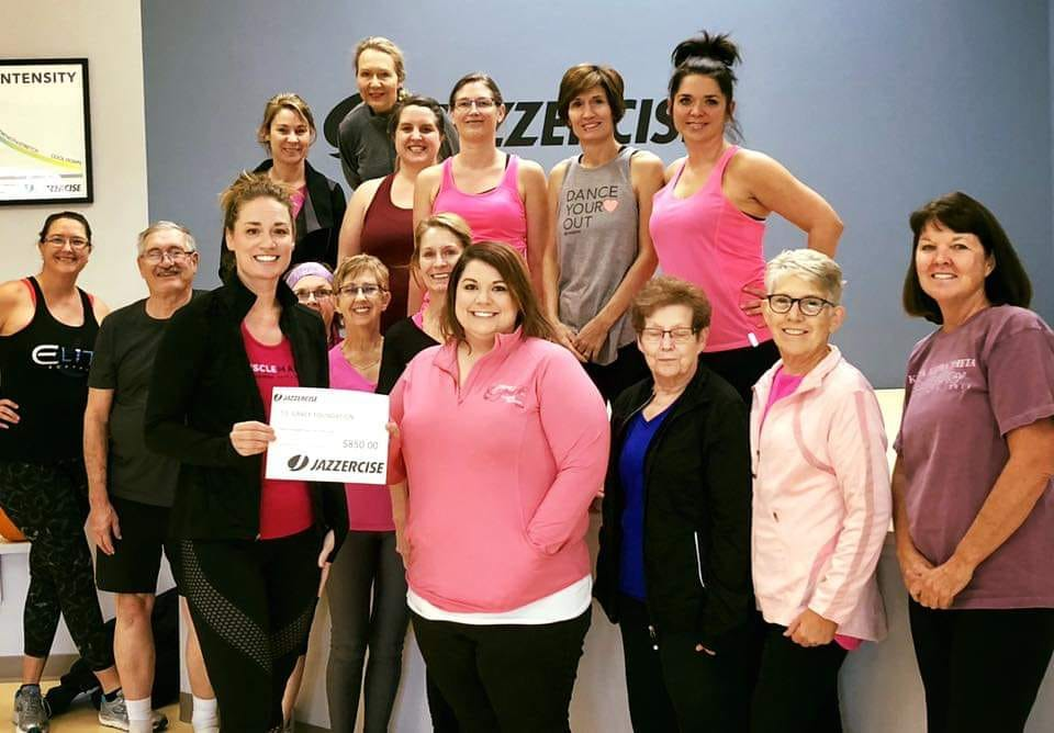 Thank you, jazzercise! - Thank you to ALL the Grand Island Jazzercise crew for their generosity in supporting the GRACE Cancer Foundation with a very generous donation of $850 collected to raise awareness for breast cancer during the month of October, 2018.