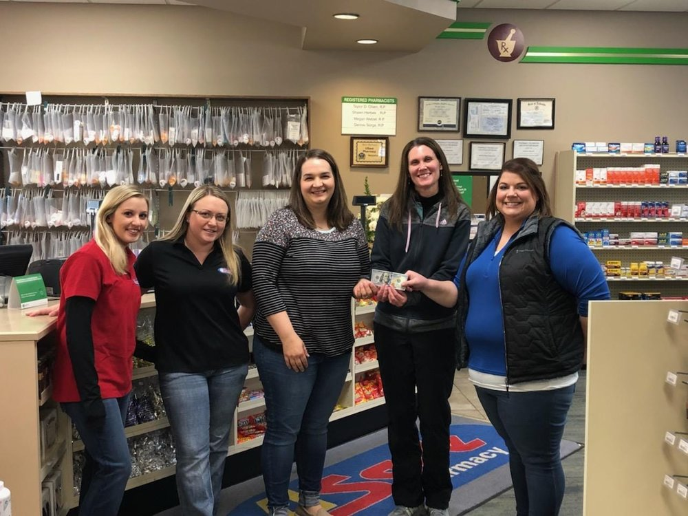 Thanks, U-Save Pharmacy! - Thank you to the wonderful Grand Island U-Save South Locust Pharmacy team for donating their October 2018 jean fund to the GRACE Cancer Foundation! We are so very thankful for all the community support!