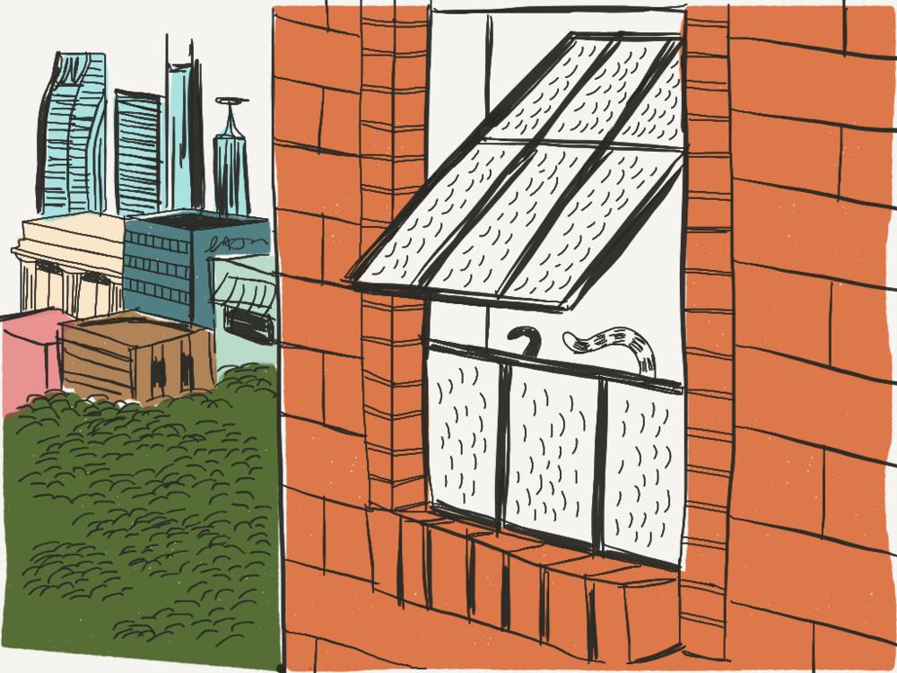 Apartment Living -  tiny living illustration for Favourite Human blog
