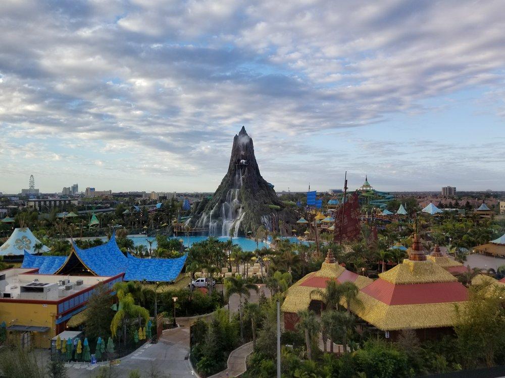 Universal's Volcano Bay Resort as seen from a Volcano side room at Universal Orlando's Cabana Bay Beach Resort