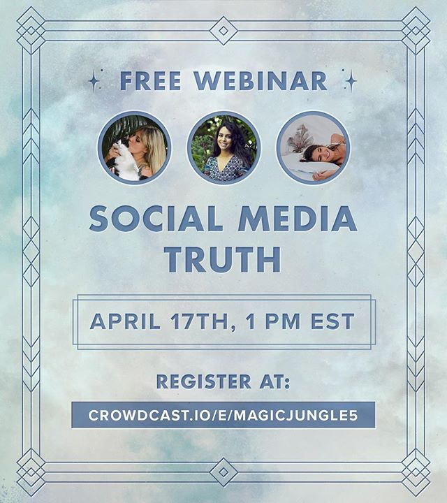 Have we got a topic for you... our next webinar will be about the REAL feelings social media can cause, it's role in modern small businesses, addiction to our phones, gaining a following offline... ohhh so much to talk about. Register for free! We will put the link up in our bio for a couple of days, you don't want to miss this one! 💭