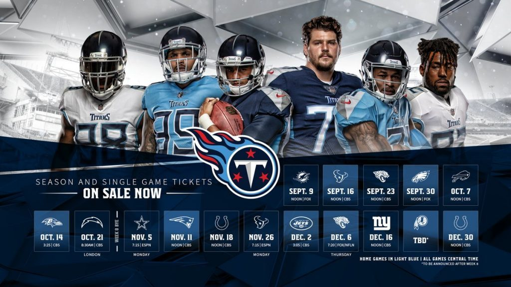 7a3b4b37 Camp South RV — Tennessee Titans: 2018 Schedule