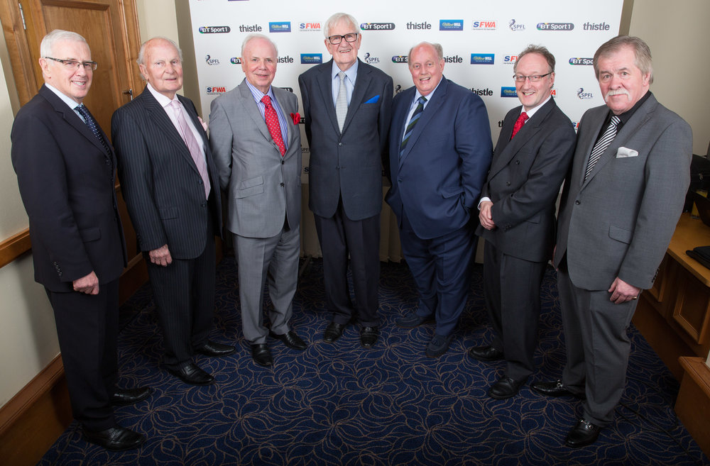 A FINE BODY OF MEN - Don Morrison, Allan Herron, Rodger Baillie, Martin Frizell Ron Scott, Roddy Forsyth and Jim Black
