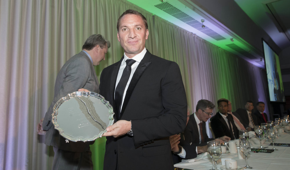 Brendan Rodgers was the runaway winner of the Manager of the Year award
