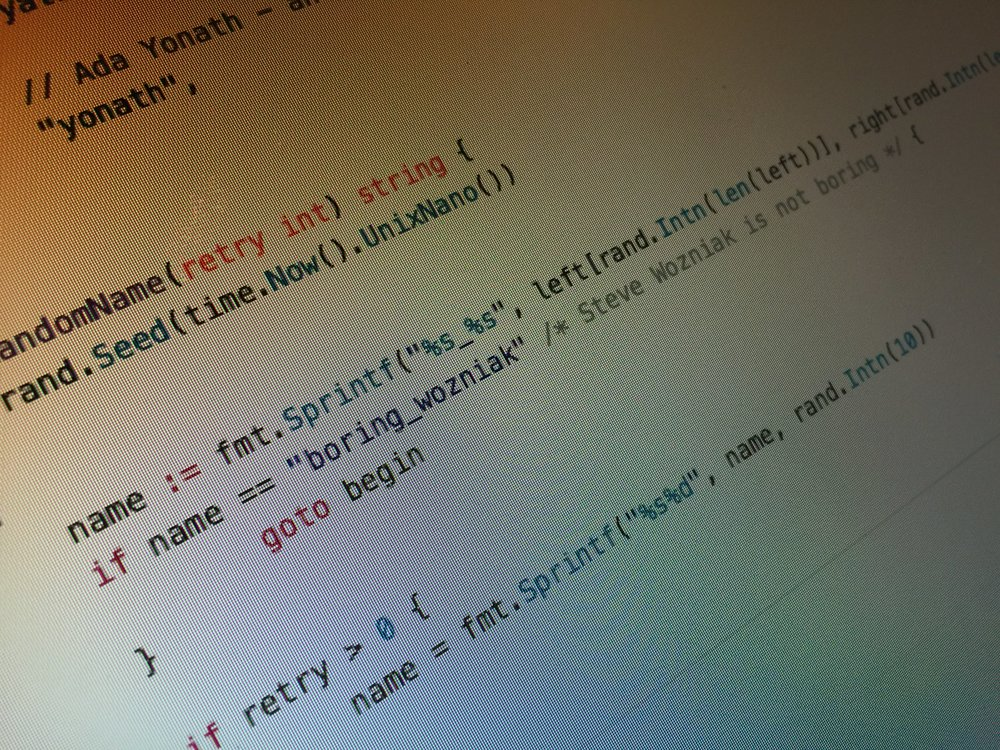 "An image of code featuring a comment ""Steve Wozniak is not boring""."