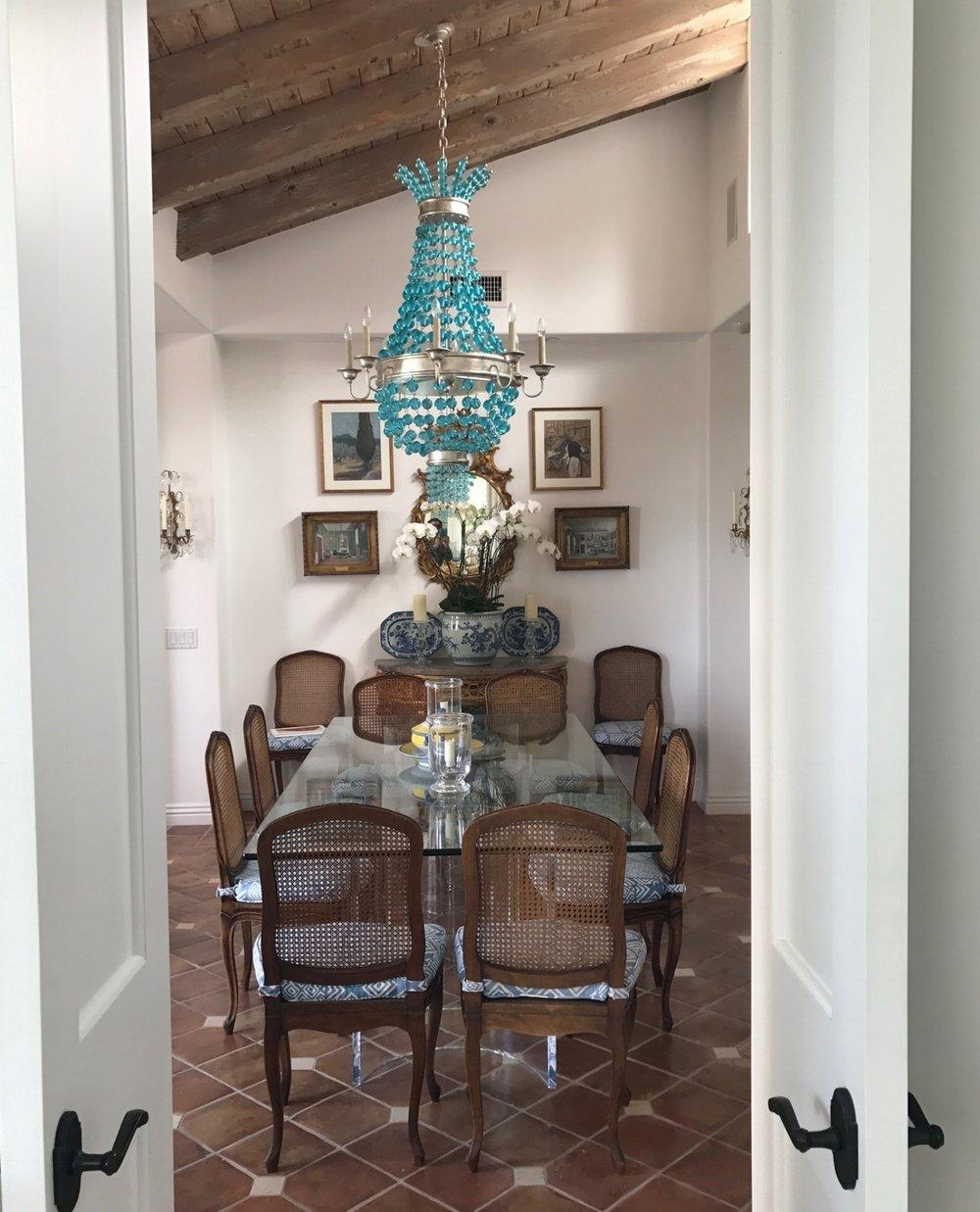 Laguna Beach Dining Room U0026nbsp;of Home Designer Ginny Magher, Tiled Floors,  Wood
