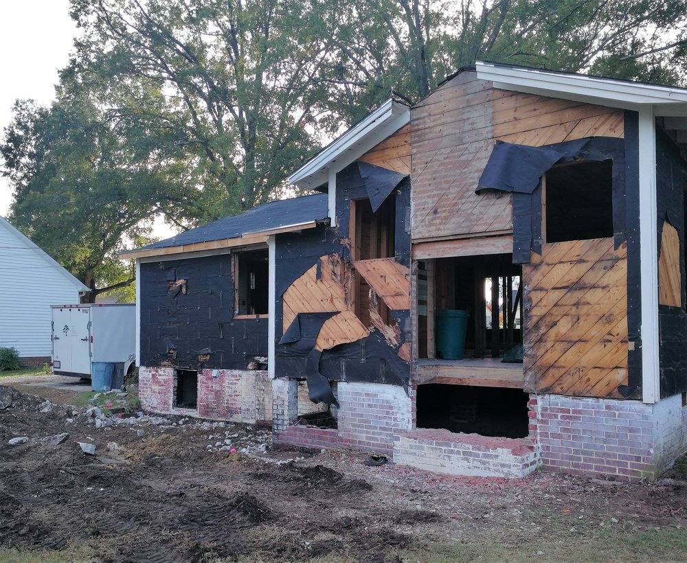 Foundation for the master bedroom addition, coming up next …
