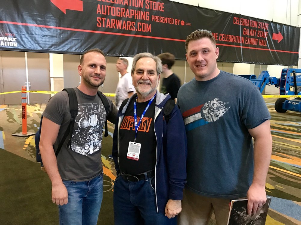 Chris Salton & Dan with legendary collector, Stephen J Sansweet