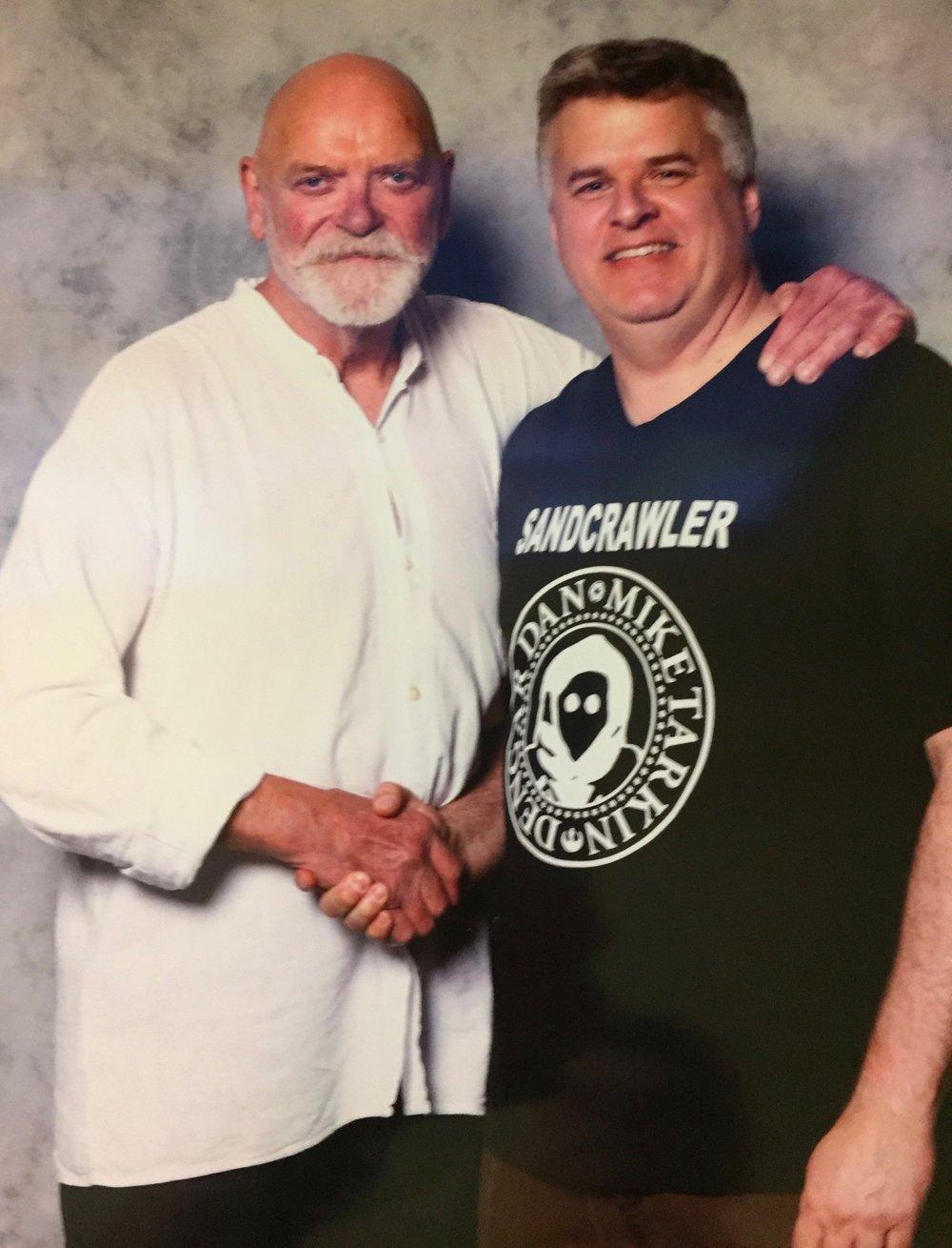 Two Windsor Ontario boys meet at last! Mac with Angus Macinnes (Dutch Vander)