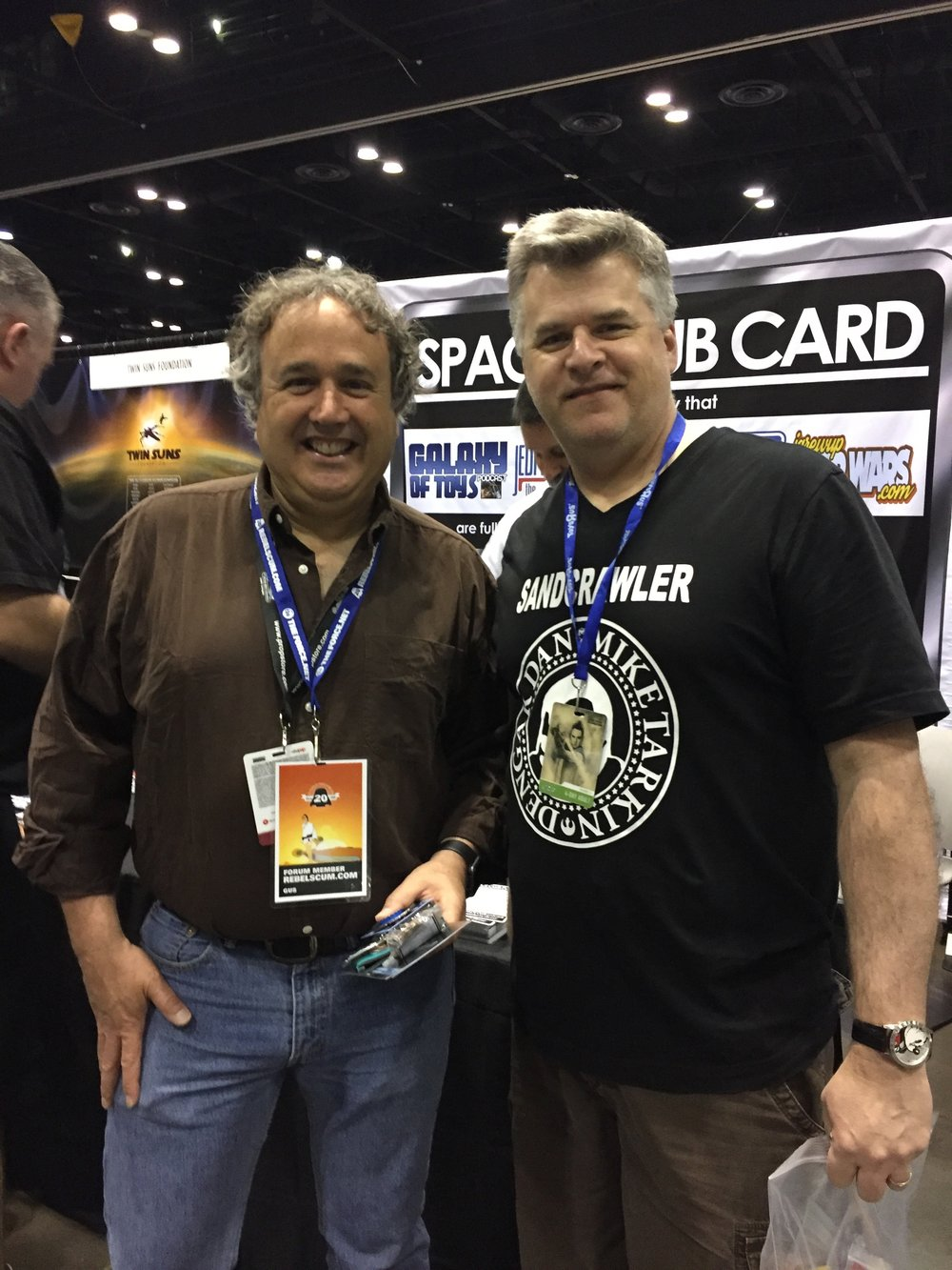 Mac with Gus Lopez, Star Wars collecting legend!