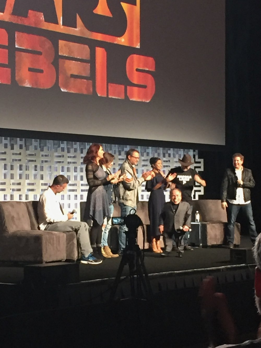 We had second row seats for the Star Wars Rebels panel